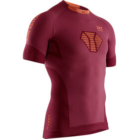 X-Bionic Invent 4.0 Run Speed Maglietta a maniche corte Uomo, namib red/kurkuma orange